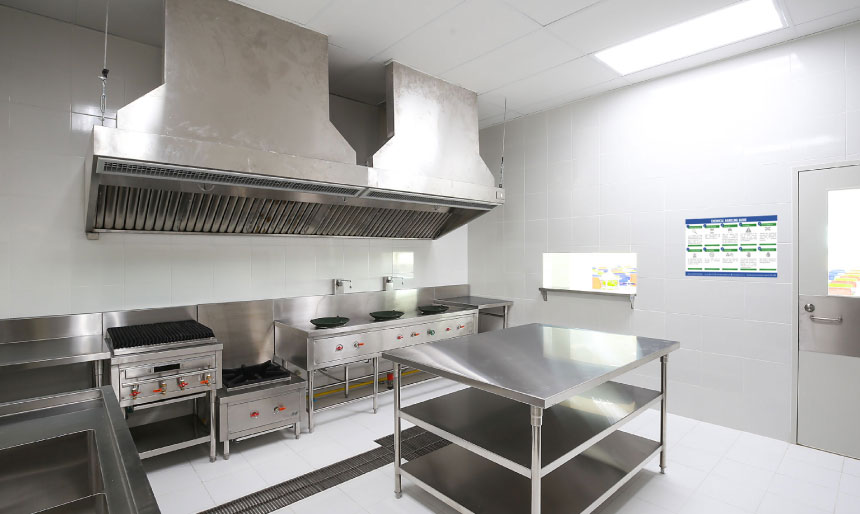 Clean commercial kitchen Dalcon Hygiene products feature