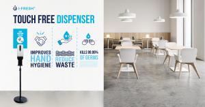 Portable hand sanitiser station - Dalcon Hygiene