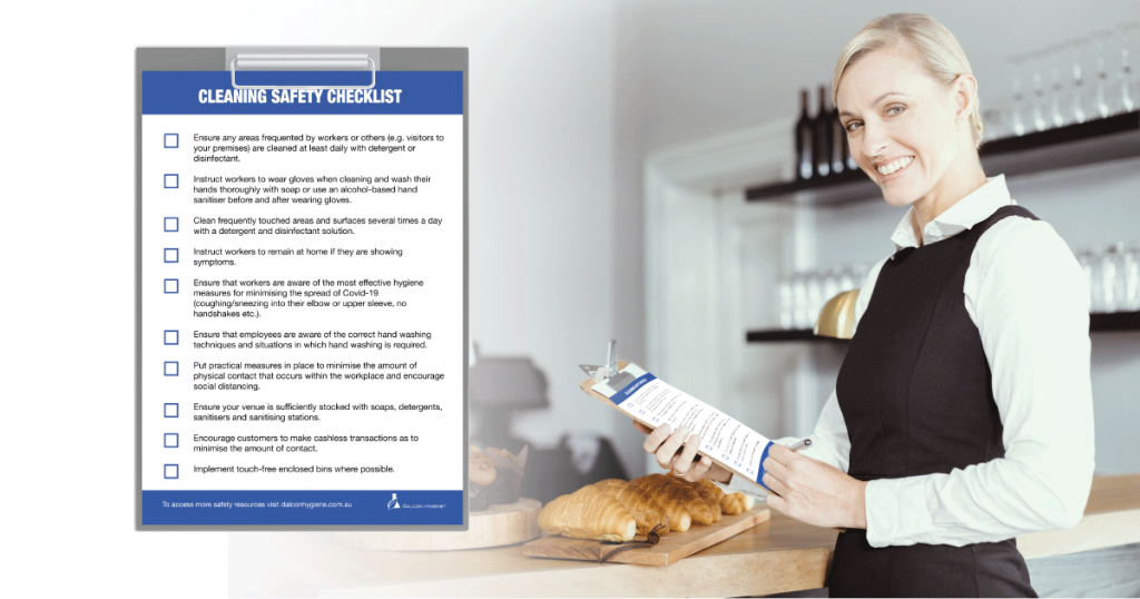 COVID-19 in Hospitality Businesses Manager with Cleaning Checklist